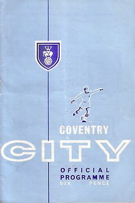 COVENTRY v SUNDERLAND 1964/65 LEAGUE CUP