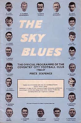 COVENTRY v BRIGHTON 1966/67 LEAGUE CUP