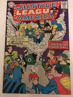 Justice League of America 21 Fn- 1st JLA/JSA crossover key DC silver age 1963
