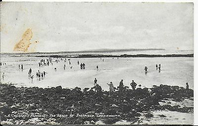 Vintage Postcard,a Children's Paradise-The Beach At Stotfield,lossiemouth,1945
