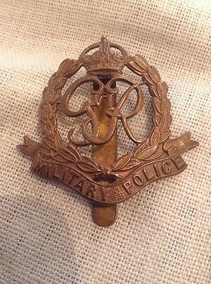 WW2 Military Police  Brass Cap Badge . Excellent .