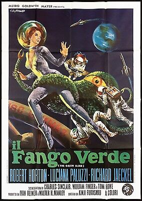 Il Fango Verde Manifesto Film Japan Sci-Fi Fukasaku Green Slime Movie Poster 4F
