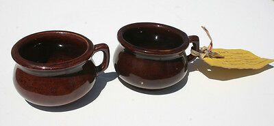2-Western Stoneware Mini Chamber Pots, one with original Tag! Excellent!