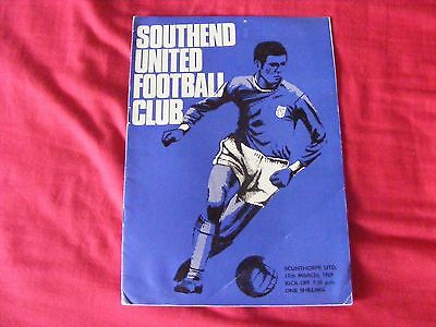 Southend United V Scunthorpe United Division 4 17Th March 1969