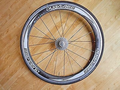 SHIMANO DURA ACE WH7850 50mm Carbon Clincher Rear Wheel and Cassette