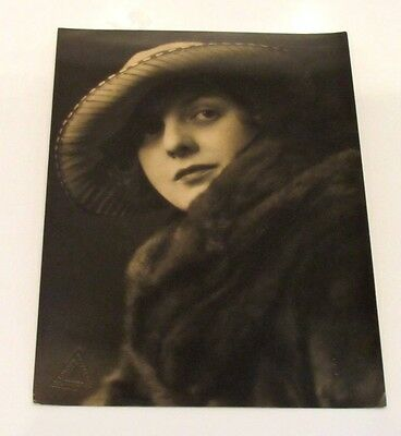 Collectable Vintage 1910 / 1920s Large Photograph Print of Lady by S Langfier
