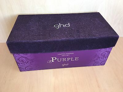 GHD Box only Purple Large Velvet Top Limited Edition Gift Set