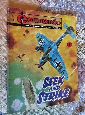 Seek And Strike,commando War Stories In Pictures,no.453,war Comic,1969