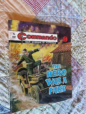 Commando War Comic Number 492!,1970 Issue,v Good For Age,47 Years Old,very Rare