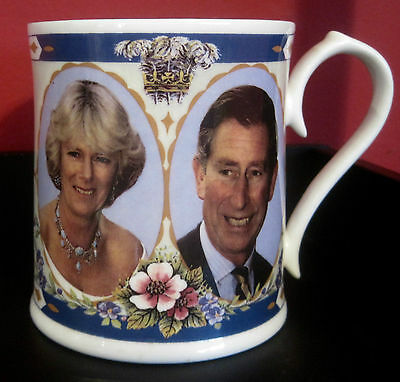 Prince Charles & Camilla Parker Bowles Engagement Portrait Mug - Aynsley LE 2000
