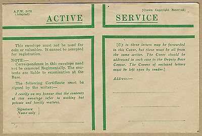Australia Military Stationery WWII Active Service Envelope 1st Army type unused