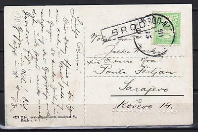 OLD AUSTRIA BOSNIA  BROD transit cancelation RRR