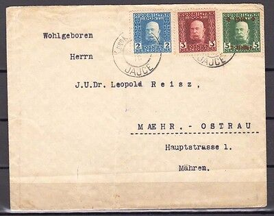 Old Austria Bosnia Letter With Semi Postal