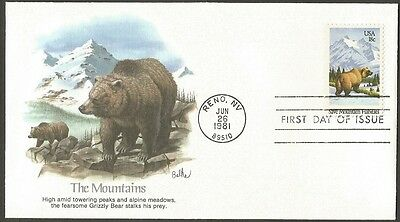 Us Fdc 1981 Save Mountain Habitats 18C Stamp Fleetwood First Day Of Issue Cover