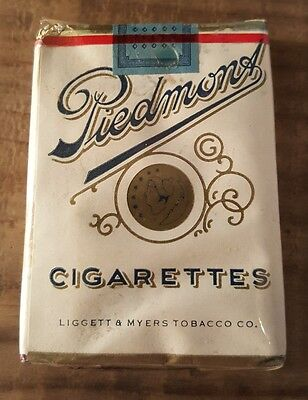 Sealed! Piedmont Vintage old CIGARETTE PACK New York Tax 5 cent & Class A Tags