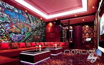 3D Graffiti Backstreet Wall Mural Paper Art Print Decals Decor