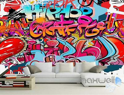 3D Graffiti Hip Hop Wall Mural Paper Art Print Decals Decor