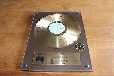 Grace Jones - Australia ARIA Gold LP Award / Living My Life 1982 / BPI RIAA