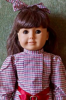 """Vintage PLEASANT COMPANY AMERICAN GIRL 18"""" SAMANTHA IN MEET DRESS TIGHTS SHOES"""