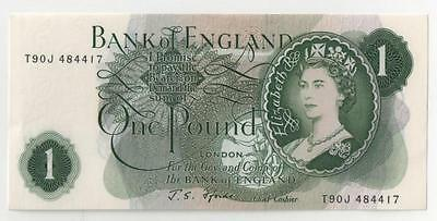 (5O) J S Fforde (1966-70) Bank Of England One Pound Banknote T90J 484417
