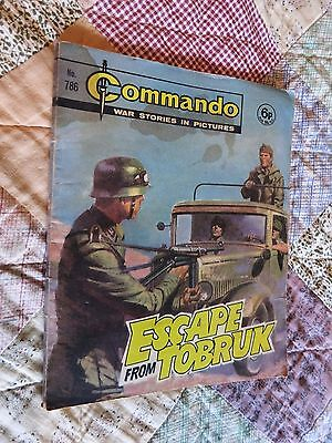 """COMMANDO """"War Stories In Pictures"""" - No 786 - Date 1973 - escape from tobruk"""