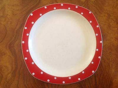 Vintage Midwinter Red Domino / Polka Dot Side / Side Plate Jessie Tait
