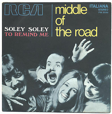SOLO COPERTINA - COVER ONLY - MIDDLE OF THE ROAD - Soley soley -  ITA EX