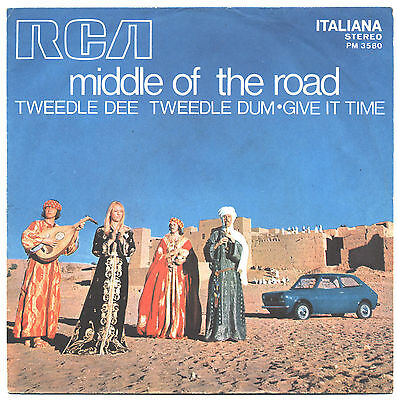 SOLO COPERTINA - COVER ONLY - MIDDLE OF THE ROAD - Tweedle dee... -  ITA EX