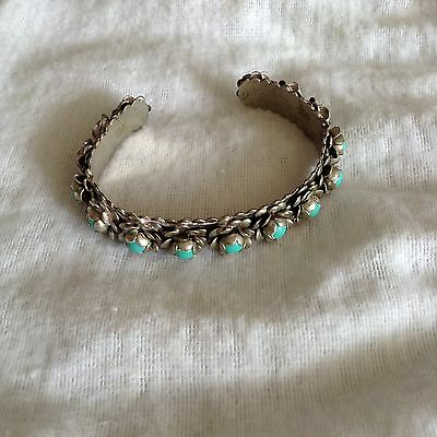 Mexican Cuff Turquoise Bracelet