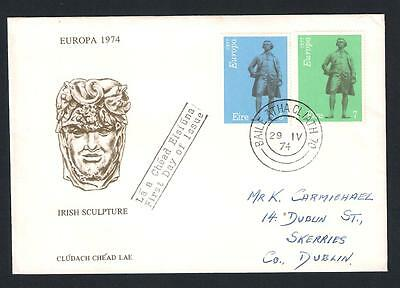 Ireland Eire - 1974 Europa Irish Sculpture First Day Cover FDC