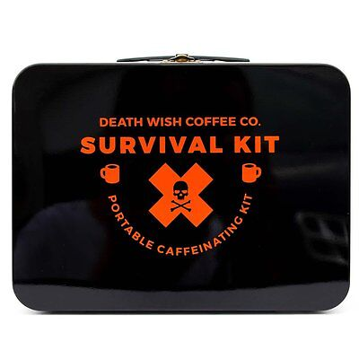 Death Wish Coffee Co. Survival Camping Kit Ltd Edition Mug Cup Set And Brewer