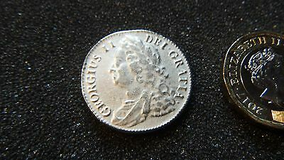 George 11. British Shilling Coin.1747. (Copy).