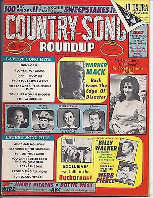 Country song Roundup #96 Oct 1966
