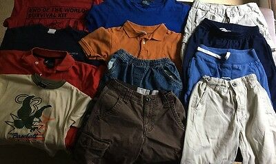 Lot of 12 Boy's Clothing, Sizes 7 - 8, Aeropostale , Polo, Old Navy,  Carter's