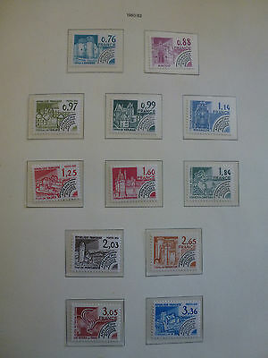 France Lot series timbres preobliteres completes monuments historiques luxe**