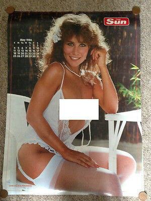 Linda Lusardi & Corinne Russell Page 3 Girl Calendar Poster Page 2 Sides