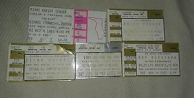 Vintage Collectible Concert tickets (1980's)