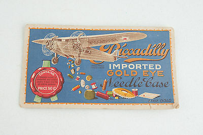 Piccadilly Imported Gold Eye Needle Case Advertising Art Paper Color (WD7)