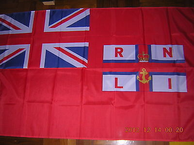 British Empire Flag RNLI Royal National Lifeboats Institution Red Ensign 3X5ft