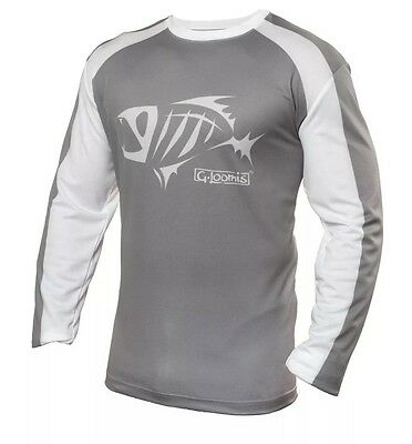 G.Loomis Technical Long Sleeve Sublimated Shirt,New,Gray,Size L