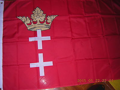 Flag of the Free City of Danzig Poland Germany Polish German Ensign 1929 - 1939