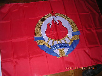 NEW Flag Naval Jack of the Communist Yugoslavia Navy Ensign 1949-1992, 3ftX5ft