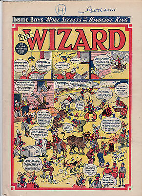 wizard comic golden age1950/51 2 copies post free uk only