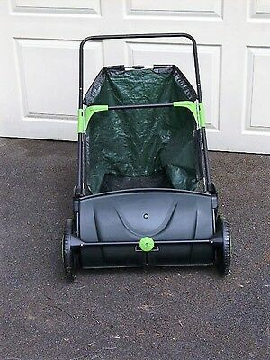 Lawn and leaf sweeper hand push. Excellent condition