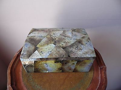 Mother of pearl and wooden jewellery box