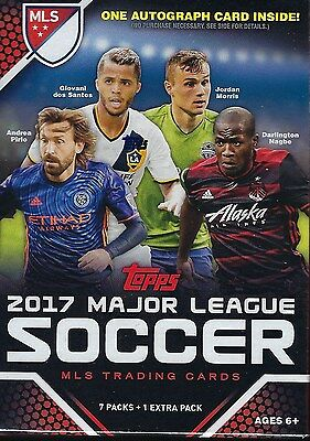 2017 Topps MLS Major League Soccer Trading Cards 48ct Retail Value/Blaster Box