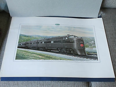 Two Vintage GM EMD New York Central Builder's prints - full size - very rare