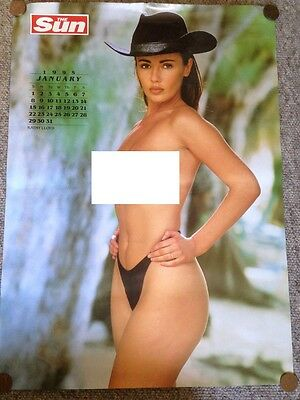 Jo Guest & Kathy Lloyd Page 3 Girl Calendar Poster Page 2 Sides