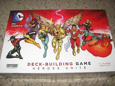 DC COMICS DECK BUILDING GAME HEROES UNITE Unplayed!  Cryptozoic  200+ new cards