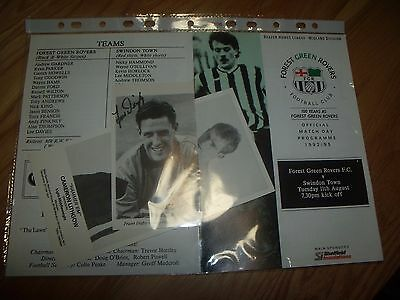 forest green rovers v swindon 11/8/1992 friendly
